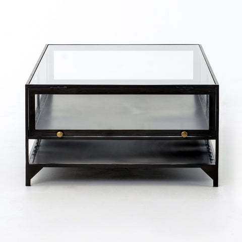 Shadow Box Coffee Table in Dark Metal by BD Studio