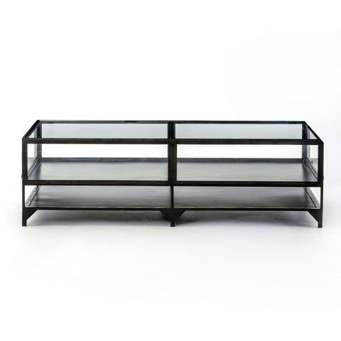 Shadow Box Coffee Table In Dark Metal