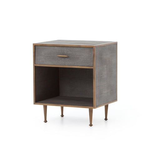 Shagreen Bedside Table in Various Colors