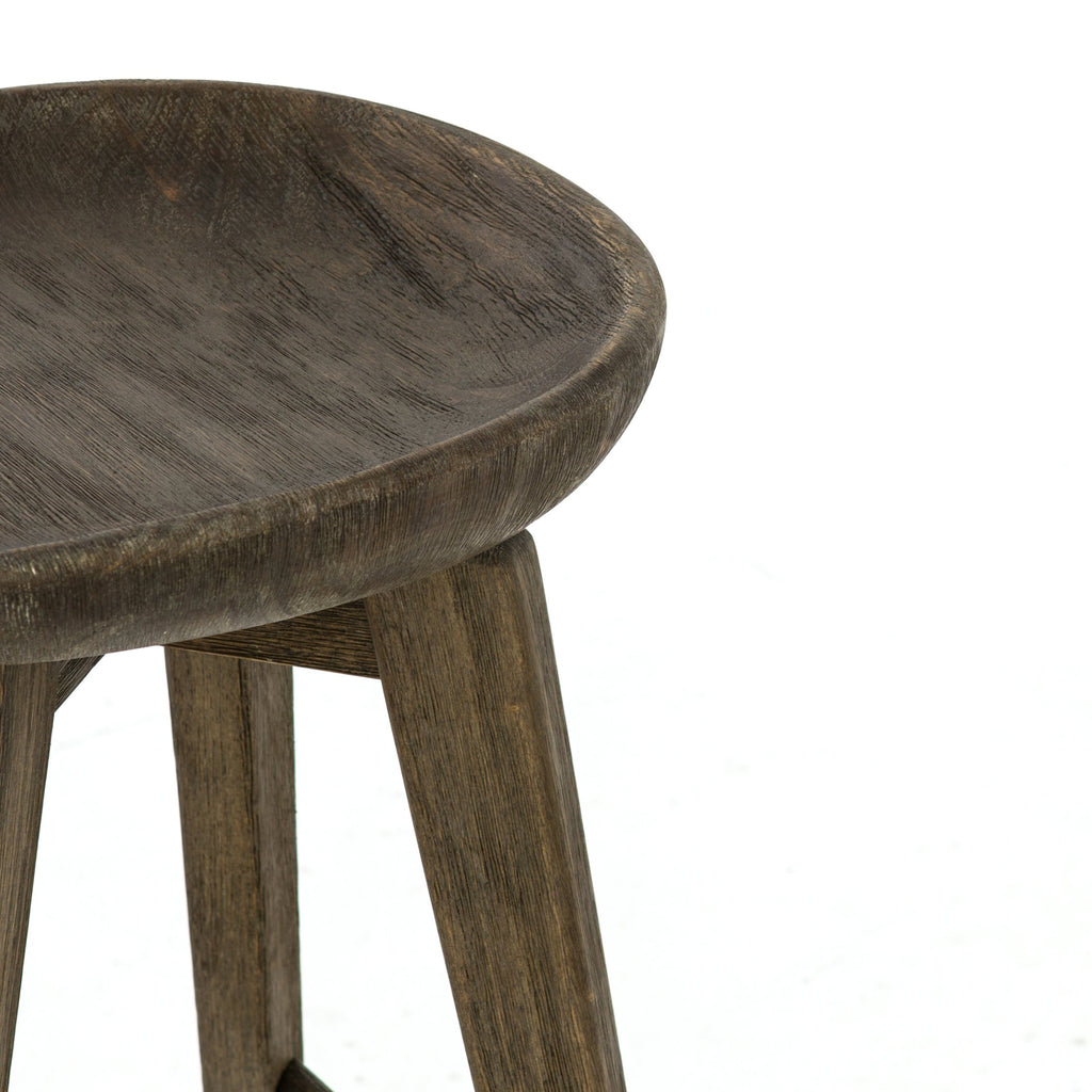 Paramore Swivel Bar Stool In Brushed Shale Grey