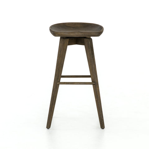 Paramore Swivel Bar Stool in Brushed Shale Grey by BD Studio