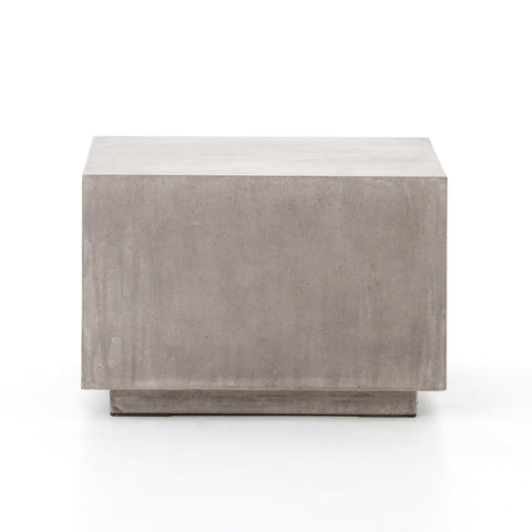 Parish Concrete Cube Coffee Table In Dark Grey