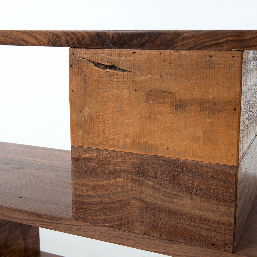 Ginger Console Table in Natural Peroba