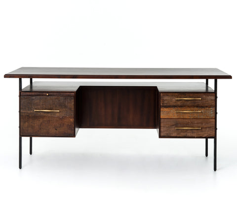 Lauren Desk in Natural Peroba by BD Studio