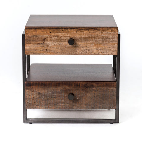 Milo End Table in Warm Brown Acacia by BD Studio