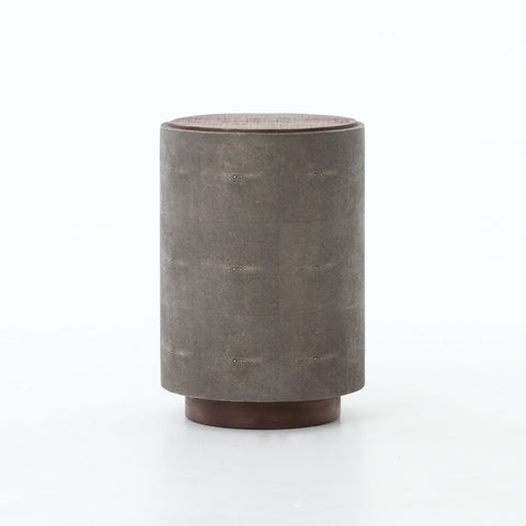 Crosby Side Table in Charcoal Shagreen by BD Studio