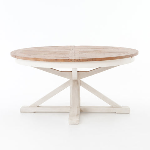 Cintra Extension Dining Table in Limestone White by BD Studio