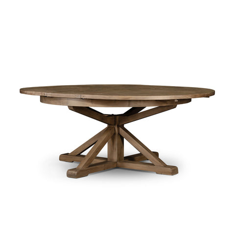 Cintra Extension Dining Table In Rustic Sundried Ash