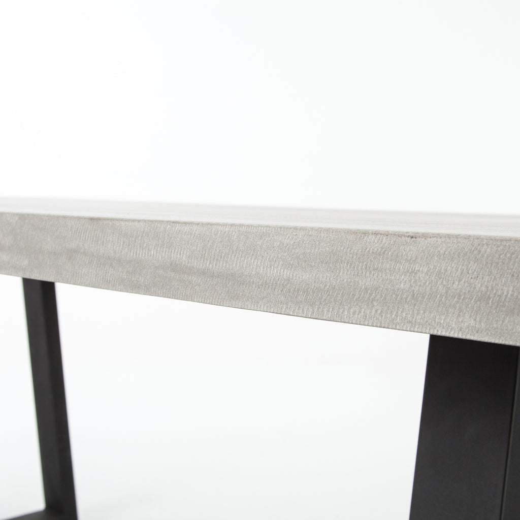 Cyrus Dining Table in Black & Light Grey