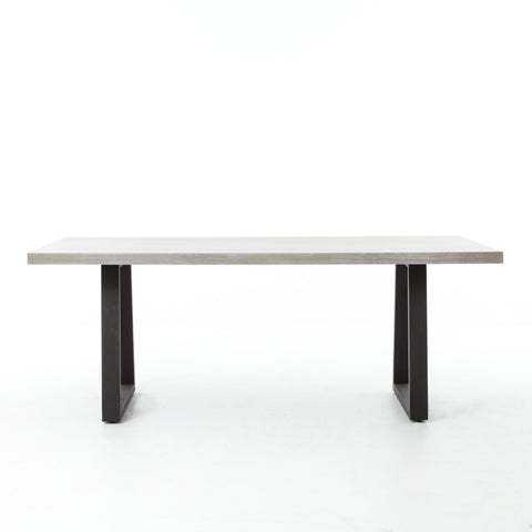 Cyrus Dining Table In Black Light Grey