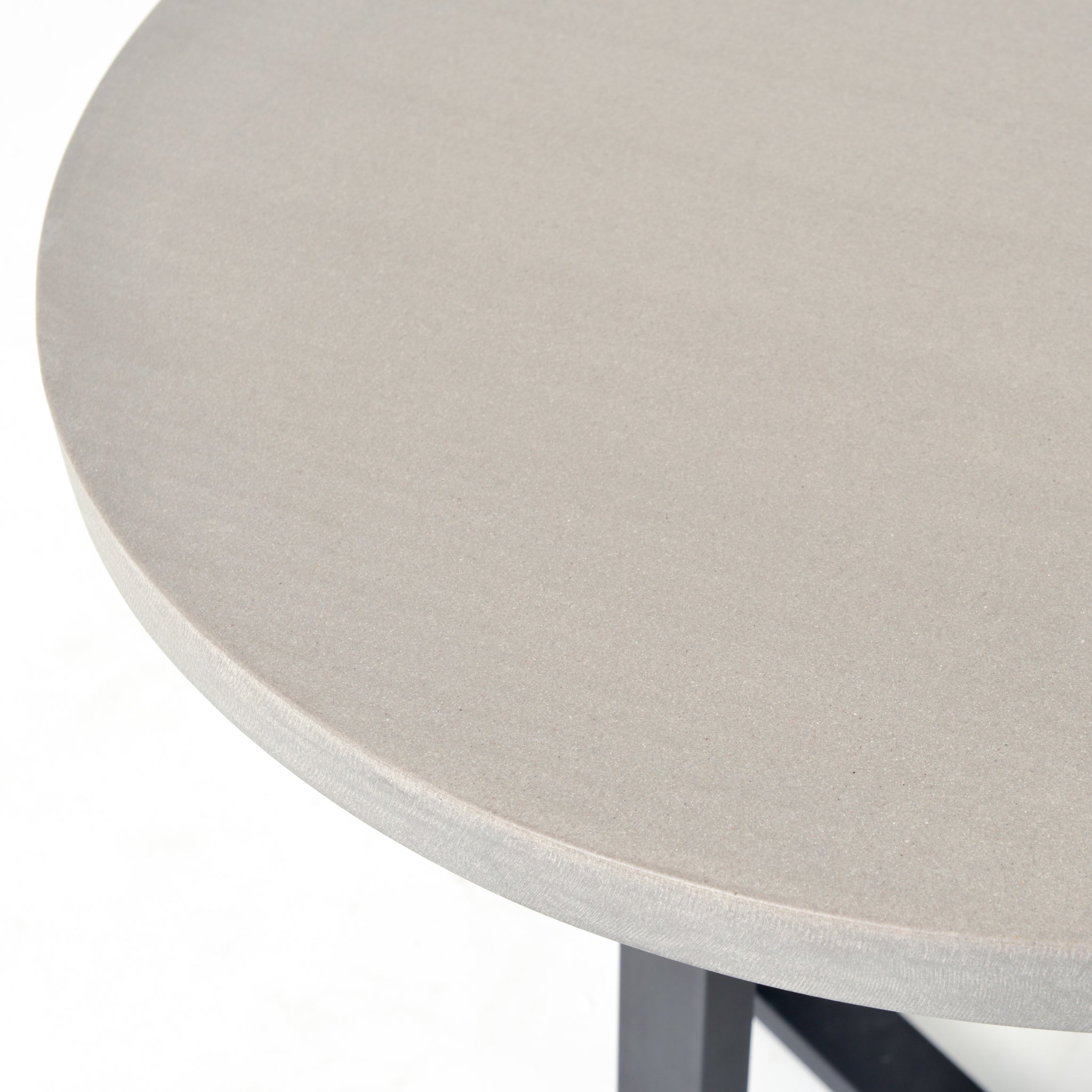 Small Cyrus Round Dining Table In Black Light Grey Burke Decor