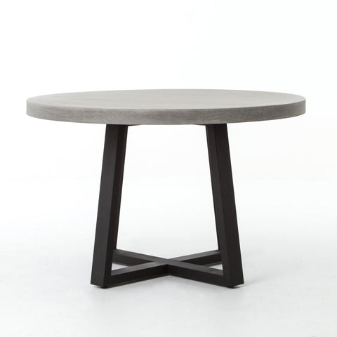 Large Cyrus Round Dining Table In Black Light Grey