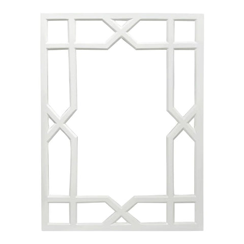 Vero White Lacquer Treills Mirror design by BD Studio
