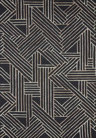 Verve Rug in Charcoal / Neutral by Loloi