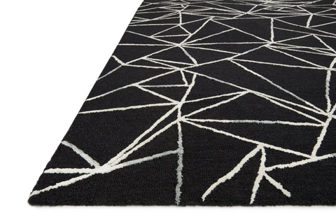 Verve Rug in Black / Ivory by Loloi