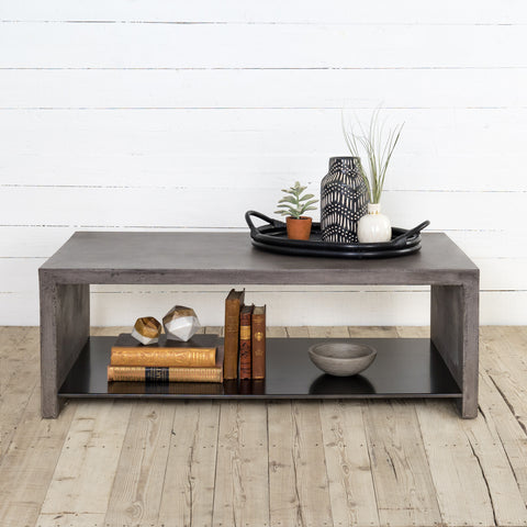 Hugo Coffee Table In Dark Grey