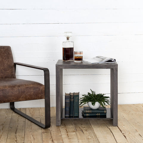 Hugo End Table In Dark Grey