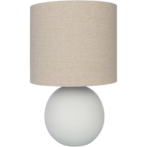 Vogel VGL-003 Table Lamp in Ivory & Light Gray by Surya
