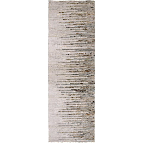Vibe VIB-1002 Hand Woven Rug in Light Gray & Dark Brown by Surya