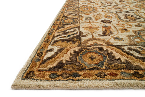 Victoria Rug in Ivory & Dark Taupe by Loloi
