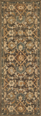 Victoria Rug in Dark Taupe / Multi by Loloi