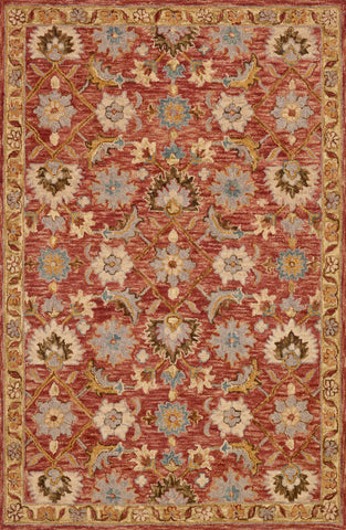 Victoria Rug in Terracotta / Gold by Loloi
