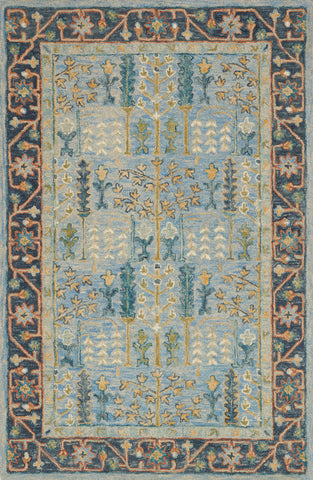 Victoria Rug in Light Blue / Dark Blue by Loloi