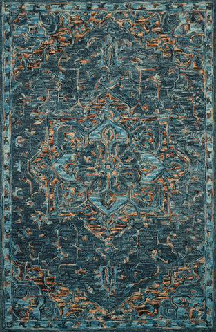 Victoria Rug in Teal & Multi by Loloi