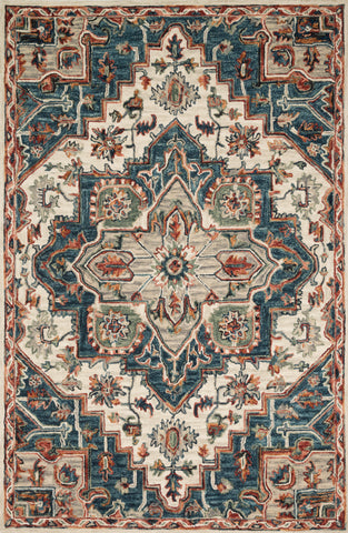 Victoria Rug in Blue / Red by Loloi