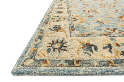 Victoria Rug in Light Blue & Natural by Loloi