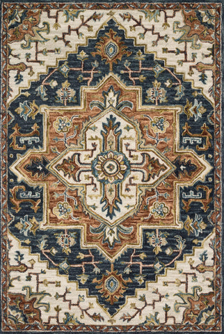 Victoria Rug in Blue & Multi by Loloi
