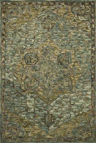 Victoria Rug in Dark Green & Tabacco by Loloi