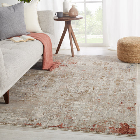 Marzena Abstract Tan & Rust Rug by Jaipur Living