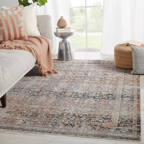 Elio Oriental Gray & Black Rug by Jaipur Living
