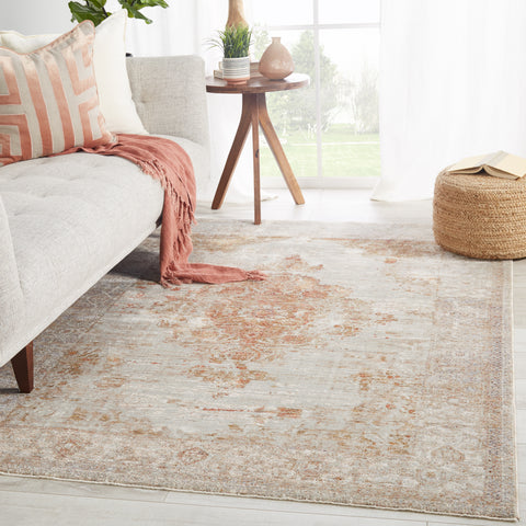 Beatty Medallion Tan & Rust Rug by Jaipur Living
