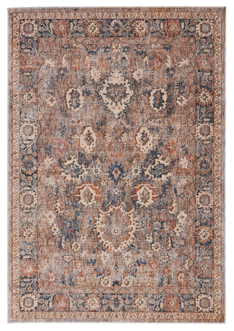 Inari Oriental Light Taupe & Blue Rug by Jaipur Living