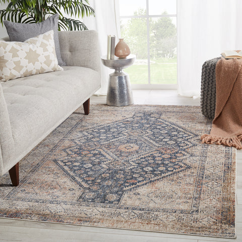 Vesna Medallion Blue & Light Taupe Rug by Jaipur Living