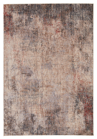 Kyson Abstract Light Taupe & Blue Rug by Jaipur Living