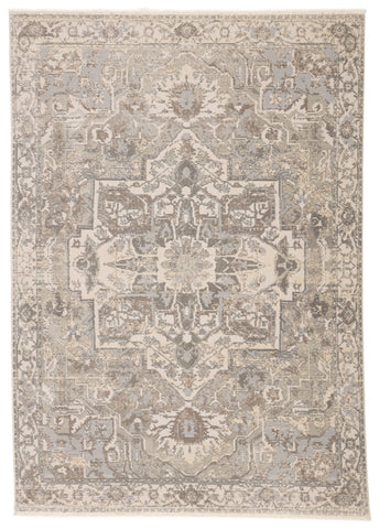Alain Medallion Gray & Cream Rug by Jaipur Living