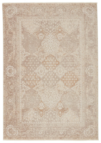 Lourdes Trellis Gold & Light Gray Rug by Jaipur Living