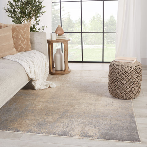Alcina Abstract Cream & Grey Rug by Jaipur Living