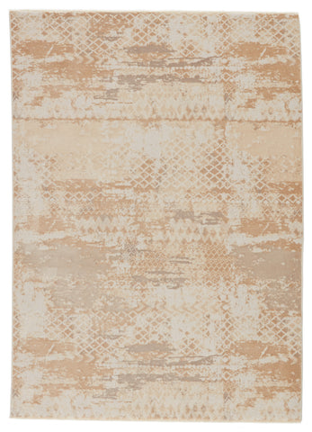 Azami Tribal Gold & White Rug by Jaipur Living