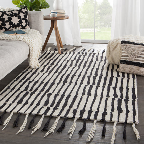 Vera Saville Rug in Black by Nikki Chu for Jaipur Living