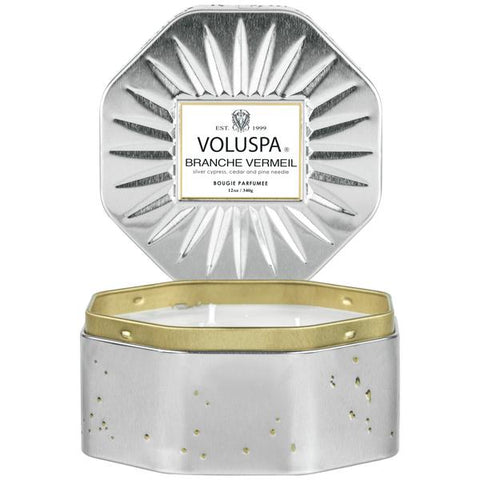 Branche Vermeil 3 Wick Tin Candle