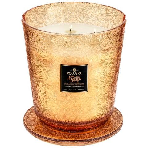Spiced Pumpkin Latte 5 Wick Hearth Candle