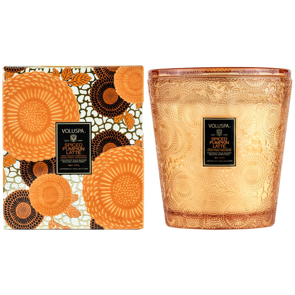 Spiced Pumpkin Latte 3 Wick Hearth Candle