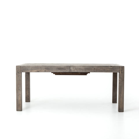 Post Rail Extension Dining Table In Rustic Black Olive