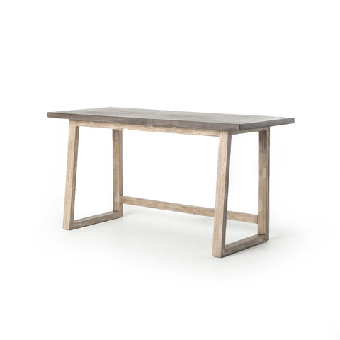 Crockett Desk in White Wash & Antiqued Dark Grey by BD Studio