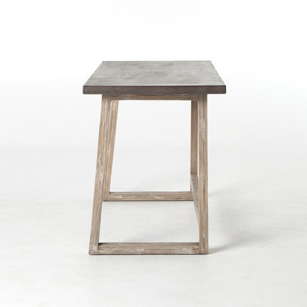 Crockett Desk in Antiqued Dark Grey