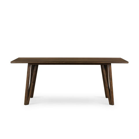 Leah Dining Table in Rubbed Brown
